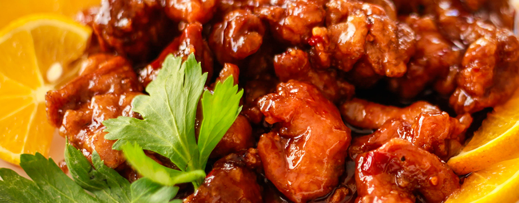 Our best seller, Orange Chicken at $9.95!